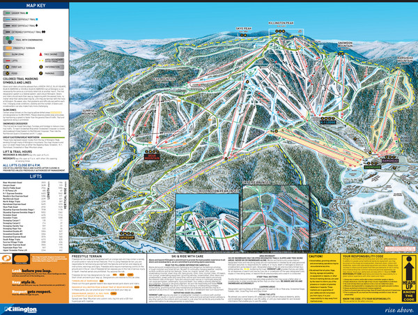 07-08 Killington Ski Trail Guide Map