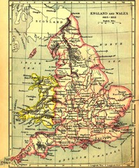 1660-1892 England and Wales Map