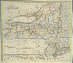 1831 Antique New York State map
