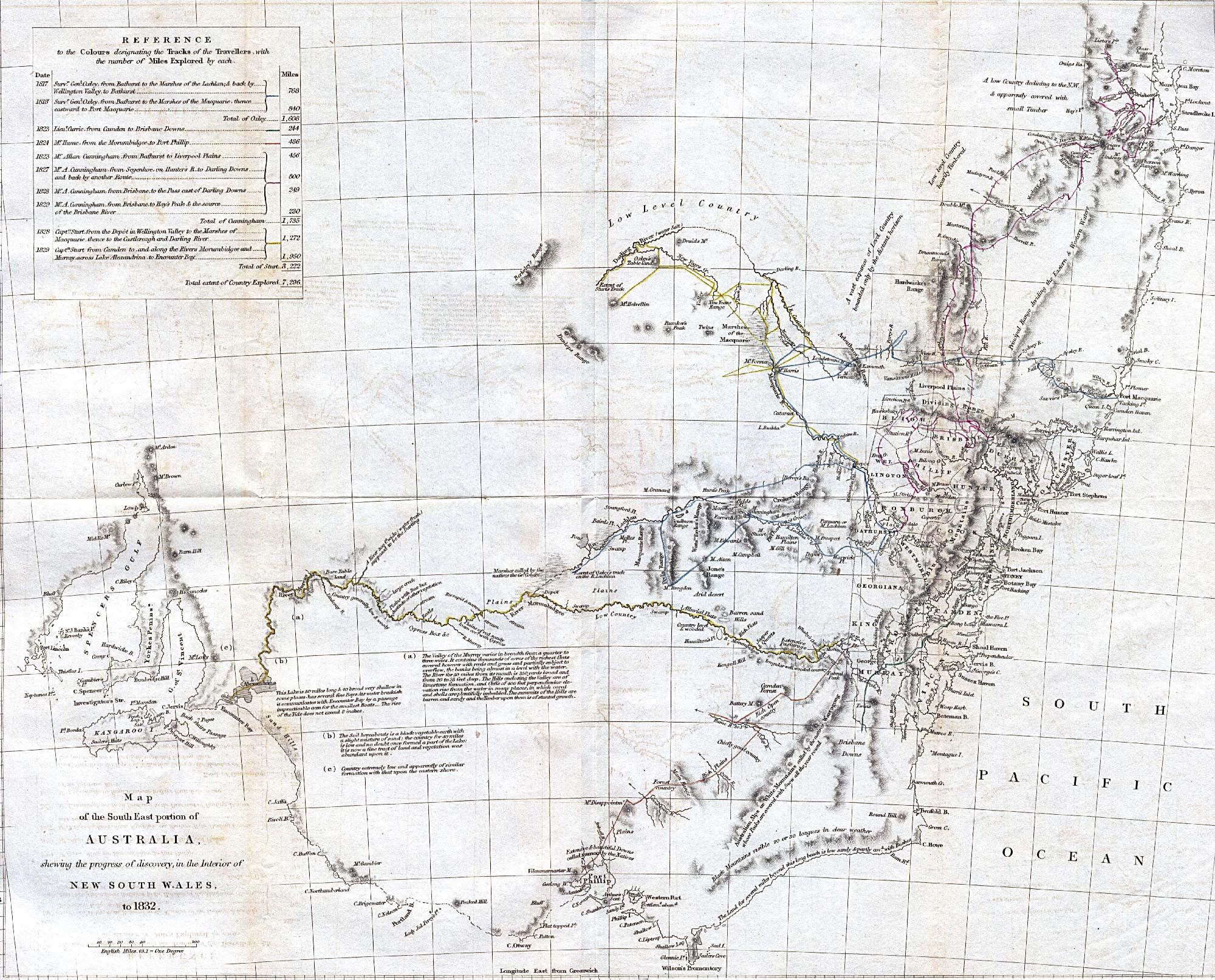 1832 South Australia Historical Map Australia mappery