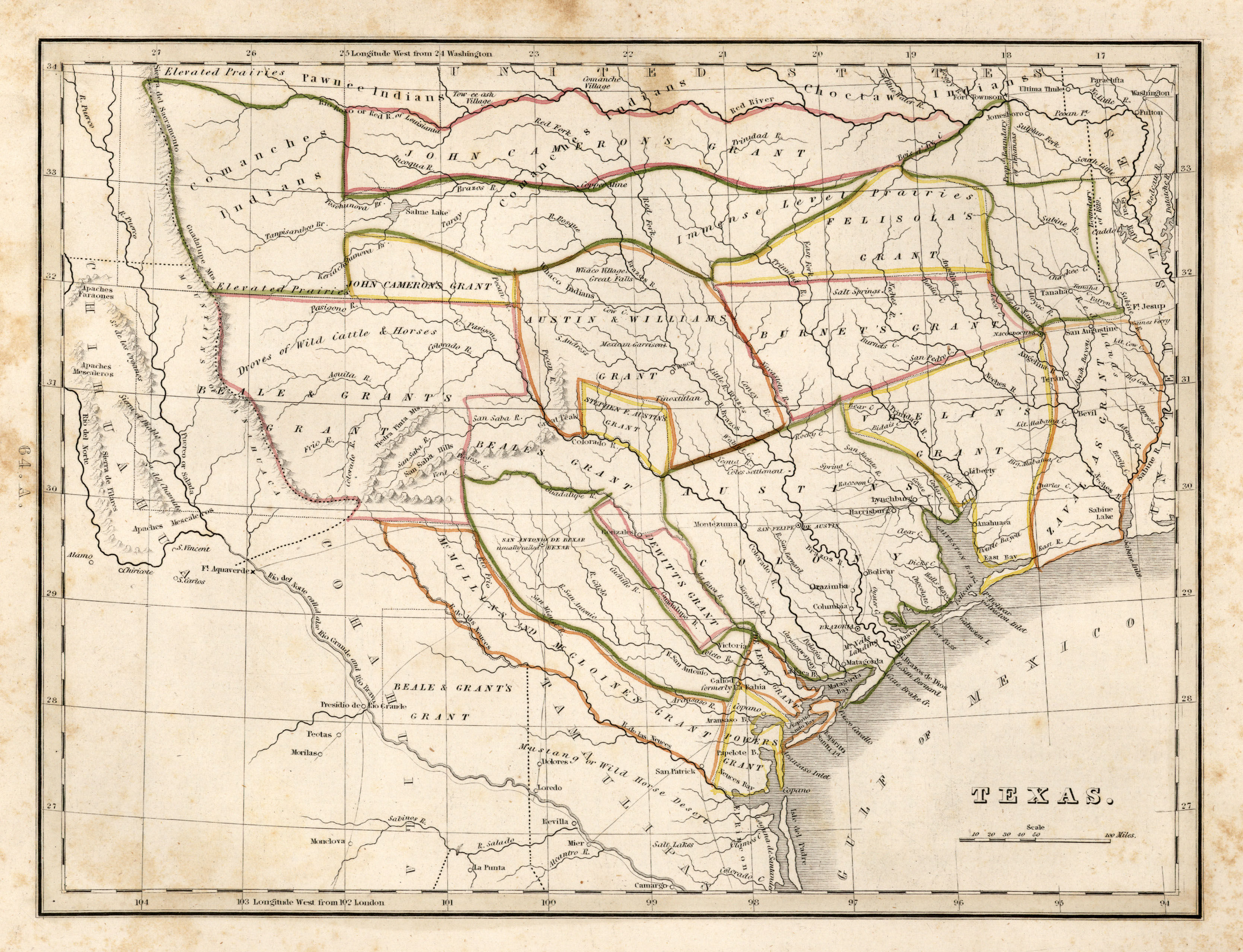 1835 texas historical map see map details from www.lib.utexas.edu