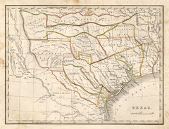 1835 Texas Historical Map