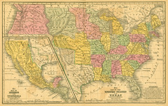 1839 United States Historical Map