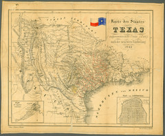 1849 Texas Historical Map