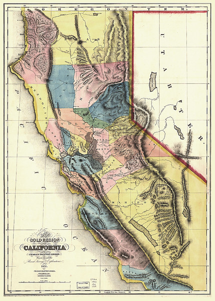 1851 California Regional Map