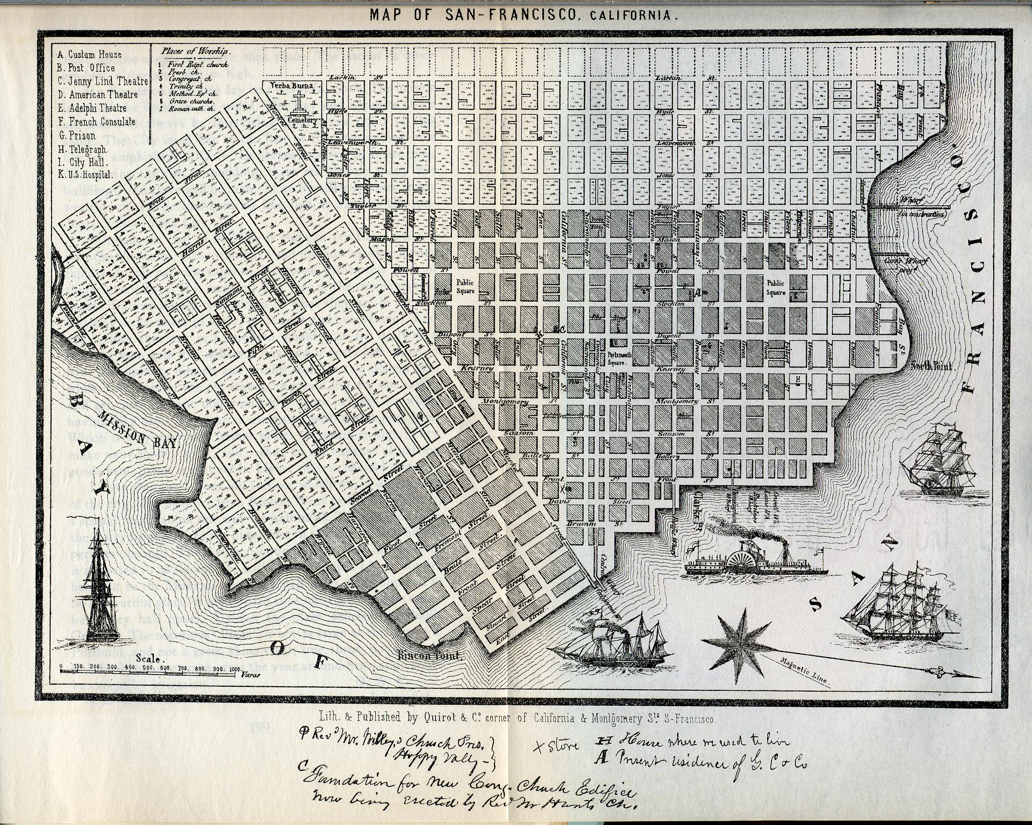 1852 San Francisco Map San Francisco Ca Us Mappery