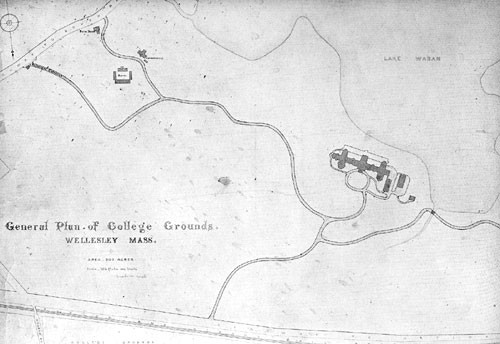 1870s Map of Wellesley College