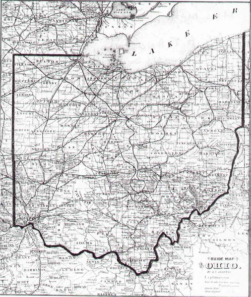 1873 Ohio Map Ohio Mappery