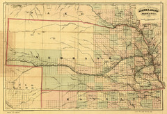 1874 Nebraska Railroad Map