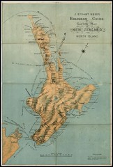 1880 New Zealand North Island Map
