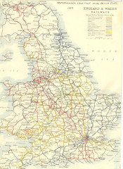 1887 - Prinicipal Railways in England and Wales...