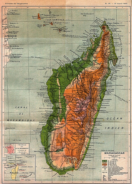 1895 Madagascar Map