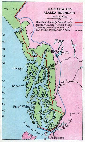 1903 Alaska Boundary Dispute Map  Alaska  Mappery
