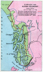 1903 Alaska boundary dispute Map