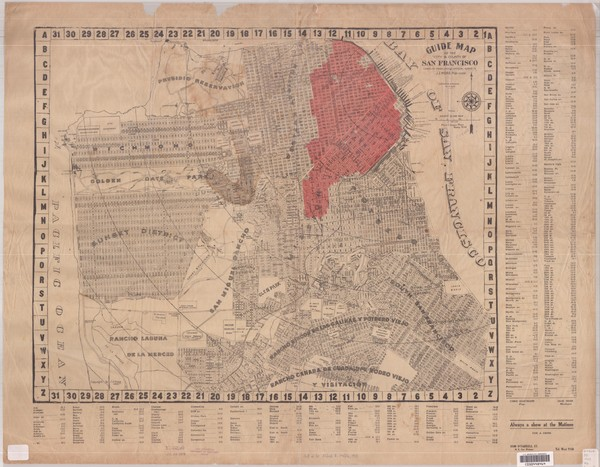 1907 San Francisco Earthquake Map