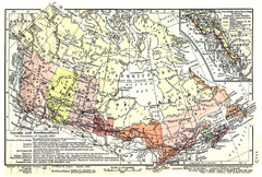 1911 Map of Canada and Newfoundland by Shepherd