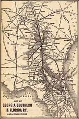 1913 Georgia Southern & Florida Railway Map