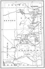 1914 Grand Canyon & Colorado River Map