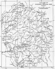 1914 Yosemite National Park Map