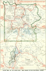 1929 Yellowstone and Grand Teton National Parks Map