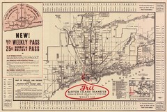 1934 Chicago Rapid Transit Map