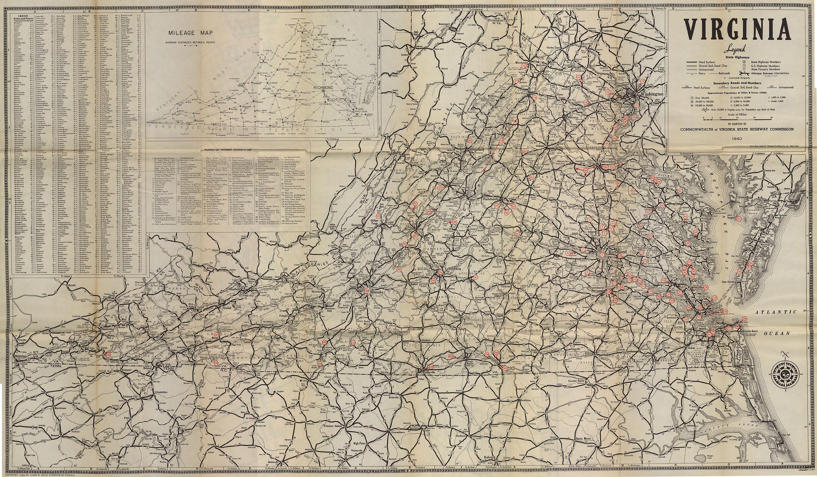 Virginia Map Virginia US Mappery - Map virgina