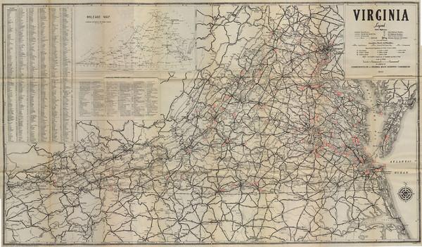 Virginia Map Virginia US Mappery - Us highway map 1940