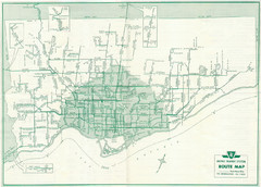 1962 Transit Toronto Guide Map