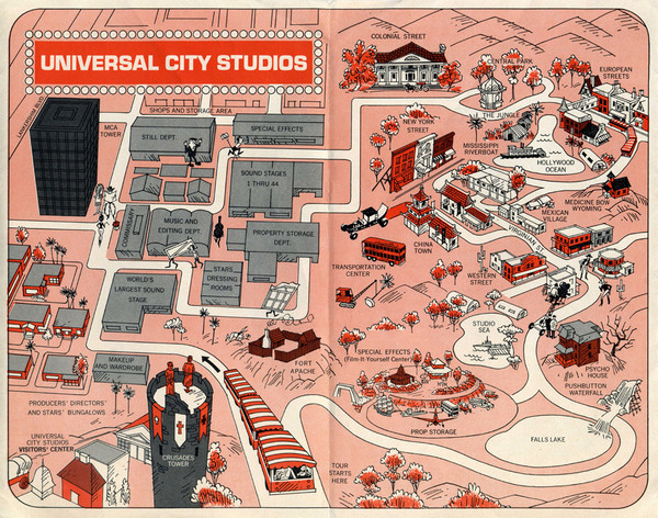 Universal Studios in Hollywood Tourist Map burbank ca mappery – Hollywood Tourist Map