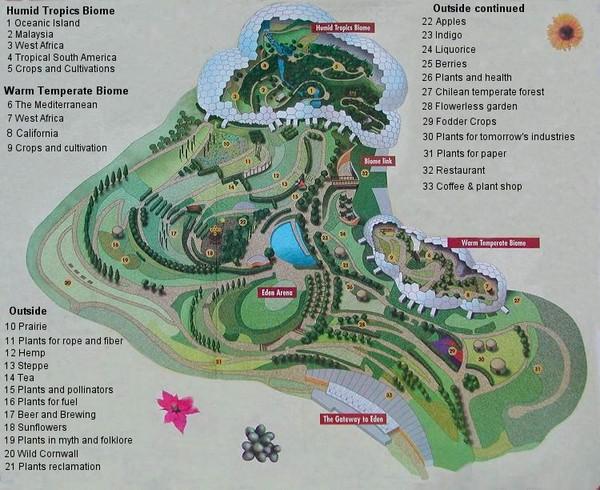 eden project map