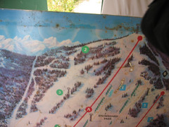 2001 Wintergreen Downhill Map Part 1