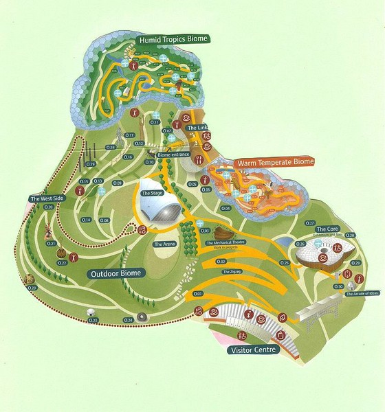 2006 Eden Project Map