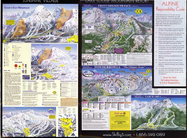 2007–08 2007–08 Ski Big 3 Side 2 (Lake Louise Map)