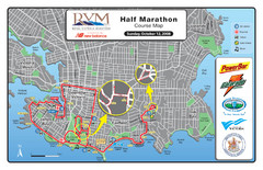 2008 Royal Victoria Half Marathon Map