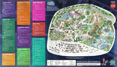 2008 Six Flags Great America Theme Park Map