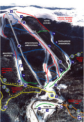 3–5 Pigadia Ski Trail Map