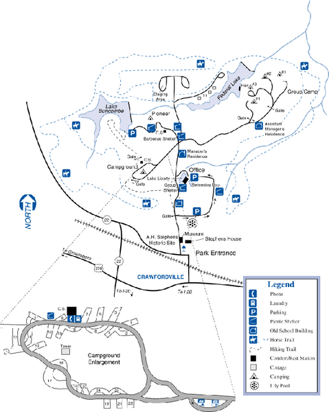 A. H. Stephens Historic Park Map