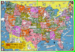 A MAD Pictorial Map of the United States - Front...