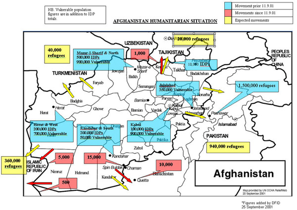 AFG Humanitarian Map