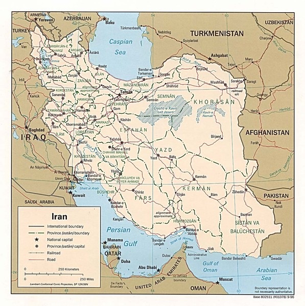 Afg iran border map mappery fullsize afg iran border map gumiabroncs Images