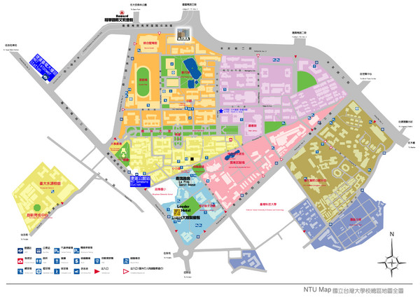 ASIAA at NTU Campus Map
