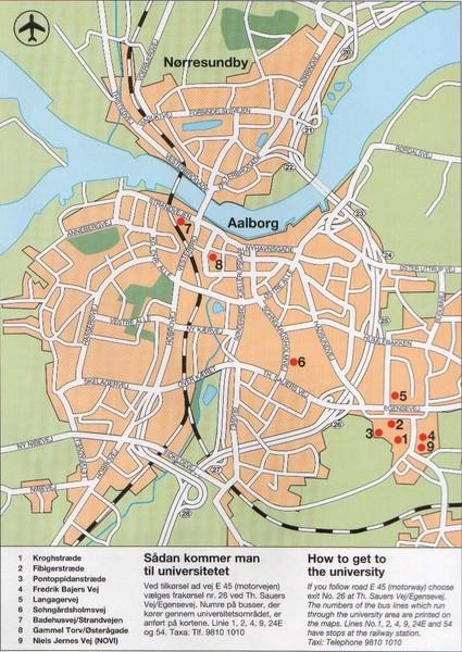 Aalborg City Map Aalborg Denmark mappery