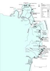 Abel Tasman Coastal Track Map