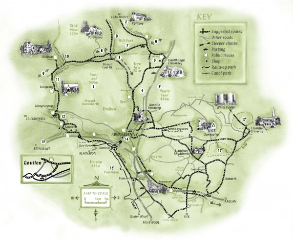 Abergavenny Cycle Map