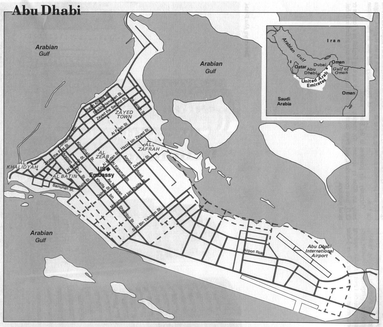 Abu Dhabi City Map - Abu Dhabi United Arab Emirates • mappery