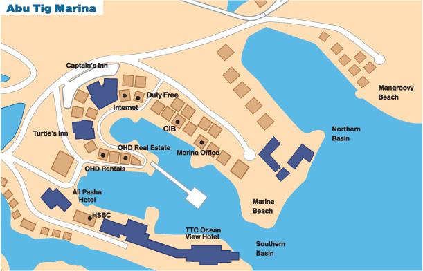 Abu Tig Marina Map Abu Tig Egypt Mappery - Map of egypt el gouna