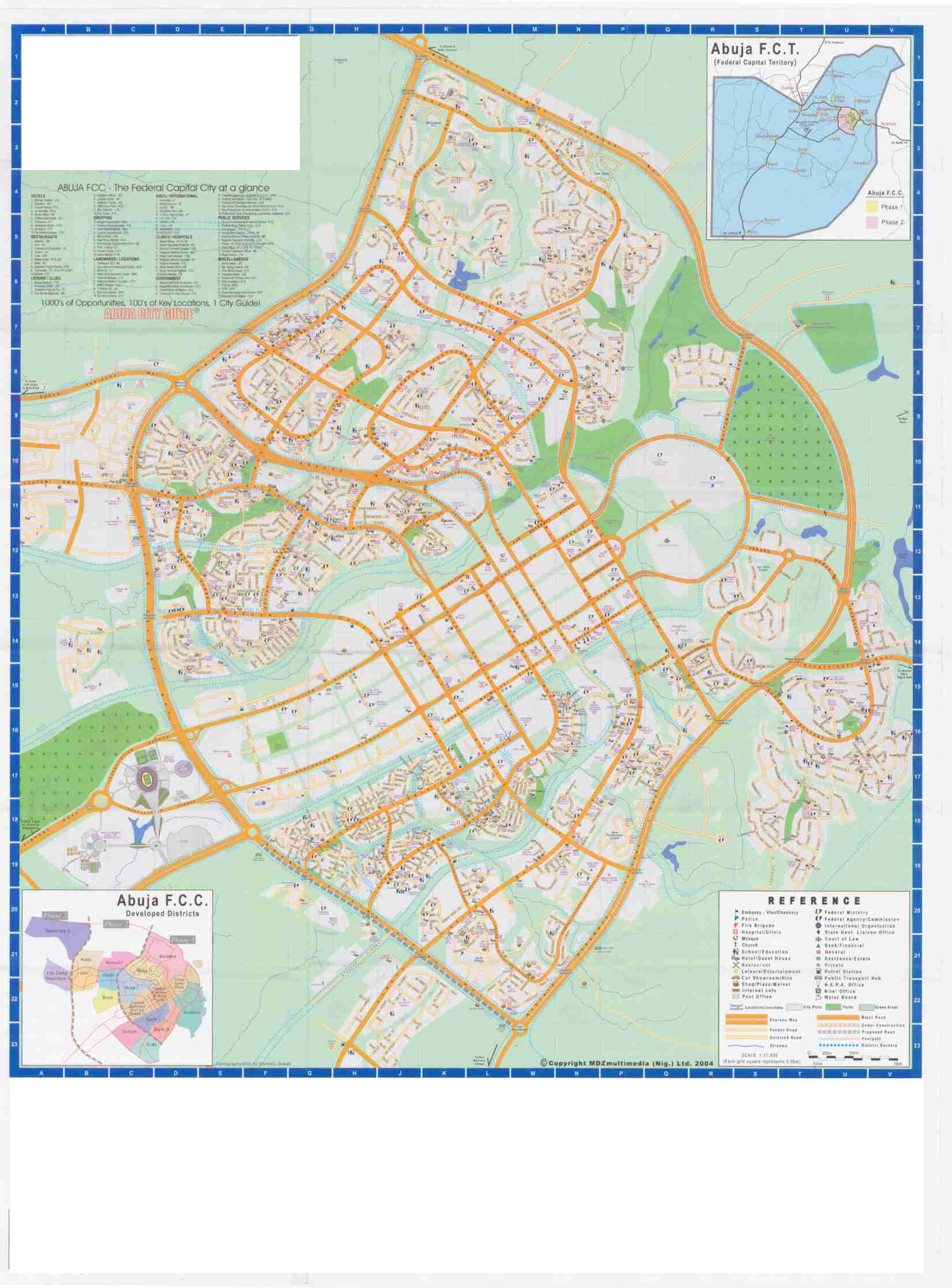 Abuja City Tourist Map - Abuja Nigeria • mappery