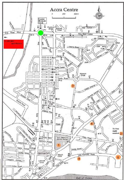 Accra Ghana Map Accra Centre Ghana mappery