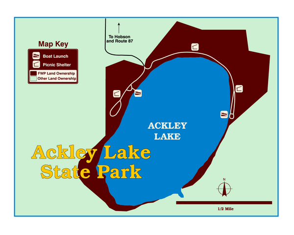 Ackley Lake State Park Map