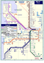 Adelaide Rail and Tram Map
